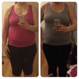 left: end of week one.right: end of week two. I can see a differene there, even if it is only a little one.