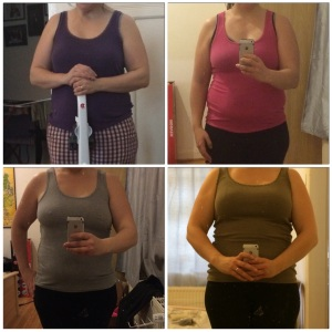 From top left to right: Christmas 2014, week one, week 2, 2and week 3 results